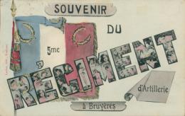 88 BRUYERES / Souvenir Du 5ème Régiment D'Artillerie / - Bruyeres