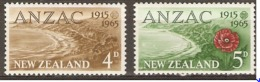 New Zealand  1965 SG  826-7  ANZAC  Unmounted Mint - Neuseeland