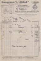 92 1716 Z GENTILLY SEINE 1933 Biscuits BISCUITERIE L IDEALE Pain Epices Biscuiterie Rue Auguste Blanqui GAUFRETTES - 1900 – 1949