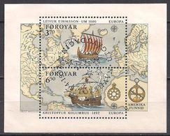 DK - Färöer  (1992) Mi. Block 5  Gest. / Used  (11bl1.9)  EUROPA - Féroé (Iles)