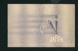 """CATALOGUE MONTRES """"SARDA BESANÇON, FABRIQUE D'HORLOGERIE DE PRÉCISION"""" - Jewels & Clocks"""