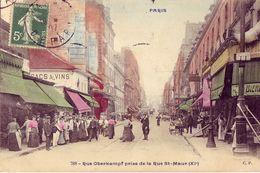 75 788 PARIS Rue Oberkampf Prise De La Rue St Maur ( XI°) - District 11