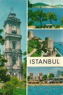 Istanbul (Turchia, Turkey) Vedute: Dolmabahce Clock Tower, A View Of Islands, Rumelihisari Castle, Atakoy Beach - Turchia