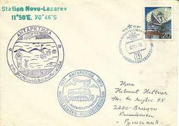 1978-lettre à Destination De BRAZOV (Roumanie) En Provenance De La Station Novo-Lazarev (DDR) - Stamps