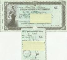 BUONO POSTALE FRUTTIFERO - DA L. 100.000 - CON CEDOLA - ANNO 1972 - Bank & Versicherung