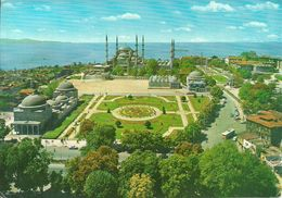 Istanbul (Turchia, Turkey) Moschea Blu E Giardini (Sultan Ahmet Mosque), The Blue Mosque And It's Surrounding - Turchia