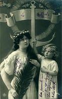 ANCRE MARINE Enfant Et Jeune Fille Avec Ancre Marine Belle Photo - Retratos