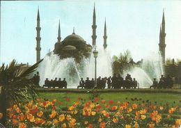 Istanbul (Turchia, Turkey) Moschea Blu E Fontana (Sultan Ahmet Mosque), The Blue Mosque And Fountain - Turchia