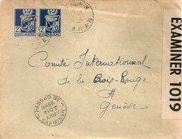 Marcophil5-ENVELOPPE EN PROVENANCE D'ORAN ALGERIE A DESTINATION DE GENEVE DE 1945 AVEC CENSURE - Marcophilie (Lettres)