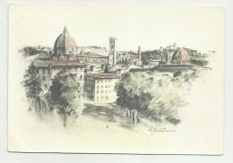 FIRENZE - VEDUTA - DISEGNO DI G.BALDINI  - VIAGGIATA FG - Firenze