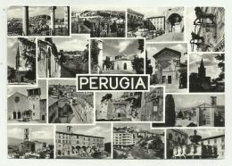 PERUGIA - MULTI VEDUTE   VIAGGIATA FG - Perugia