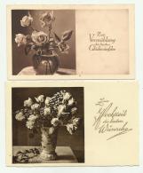 3 BIGLIETTI AUGURALI TEDESCHI -FORMATO CM. 14X9 - 13,5X8 -- - Autres Collections