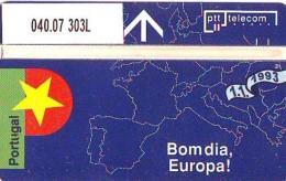 Telefoonkaart  LANDIS&GYR NEDERLAND *  R 040.07 303L *  Goedemorgen Europa Portugal * NL Prive  ONGEBRUIKT * MINT - Privé