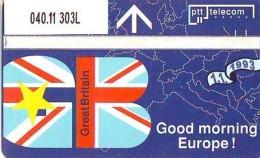 Telefoonkaart  LANDIS&GYR NEDERLAND * R 040.11  303L *  Goedemorgen Europa Great Britain * NL Prive  ONGEBRUIKT * MI - Nederland