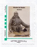 Aviateur Joseph Le Brix - Baden 56 - Timbre Adhésif + 1 Carte Postale Bréguet 19 - France