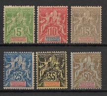 Madagascar - 1900-06 - N°Yv.  42A à 47 - Type Groupe - Série Complète - Neuf * / MH VF - Madagaskar (1889-1960)
