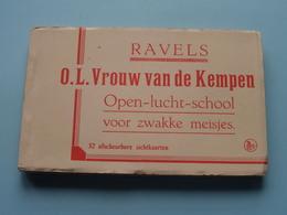 Carnet O.L.Vrouw Van De KEMPEN Open-lucht-school Voor Zwakke Meisjes. : 32 Zichtkaarten / PK / CP ( COMPLEET ) ! - Ravels