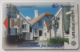N 124B , Stavanger Town Overprint Samlerdagene 99 (collector Days 99) - Norway