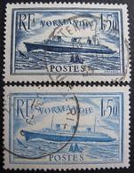LOT FD/1599 - 1935 - PAQUEBOT NORMANDIE - N°299 Et N°300 - CàD - Cote : 22,30 € - France