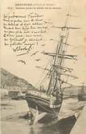 C-18-1873 : LE LEGUE-SAINT-BRIEUC. VOILIERS ISLANDAIS PECHE A LA MORUE. CHANSON DE BOTREL - France