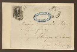 Médaillon - Non Déterminé - Sur Devant De Lettre De 1862 - 1851-1857 Médaillons (6/8)