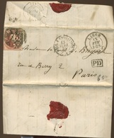 Médaillon - Non Déterminé - Sur Devant De Lettre De 1859  LIEGE - 1851-1857 Medallions (6/8)