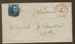 20c épaulette 4 Marges Sur Lettre COURTRAI 1850 - 1849 Schulterklappen