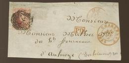 40c Médaillon - Non Déterminé - Léopold Ier  Sur Devant De Lettre - 1851-1857 Médaillons (6/8)