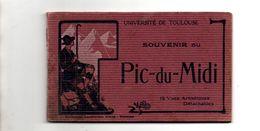 Souvenir Du Pic Du Midi. Carnet De 12 Vues. Labouche Freres. - Francia