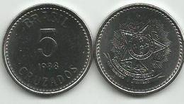 Brazil 5 Cruzados 1988. High Grade - Brasilien