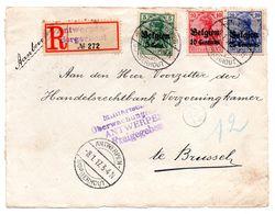 Devant De Lettre Recommandée De Borgerhout Vers Bruxelles (front Only) - Guerre 14-18