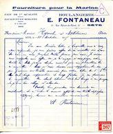 34.CETTE.FOURNITURE POUR LA MARINE.BOULANGERIE.E.FONTANEAU 31 RUE NEUVE DU NORD. - Imprimerie & Papeterie