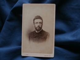 Photo CDV  Ganz à Bruxelles  Portrait Homme Barbu - CA 1885 - L371 - Photos