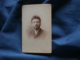 Photo CDV  Ganz à Bruxelles  Portrait Homme Barbu  Yeux Clairs (signé Canivez ? Juin 1893) - L371 - Photos