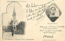 C-18-1871 : SAINT-BRIEUC. TEXTE AJOUTE SIGNE DE BOTREL - Autographes