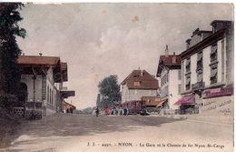 Nyon - La Gare Et Le Chemin De Fer Nyon-St-Cerge - VD Vaud