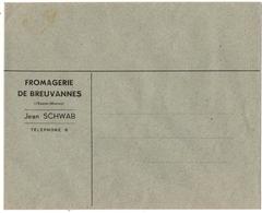 BREUVANNES (52) ENVELOPPE VIERGE . FROMAGERIE De BREUVANNES. M. SCHWAB. - Non Classés