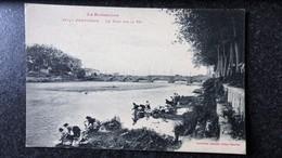 CPA 66 LE ROUSSILLON PERPIGNAN Le Pont Sur La TET Animée De LAVANDIERES Métier - Perpignan