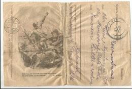 Feldpostkarte Russland WW2 Propaganda Russia War 1945 Death To German Invaders Fronte Russo - Storia Postale