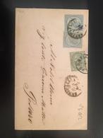 ANTICO PIEGO POSTALE-1-7-1864-SINIGALLIA X PESARO-AFFRANCATO CON CENT.15 X 3 - 1861-78 Vittorio Emanuele II