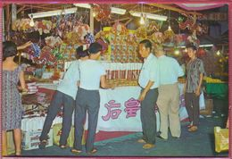 Collection-Singapore (UNC) Old 1959s Busy Street STALLS Selling MOON Cakes,LANTERNS,Chinese MOON Festival - SW S5001 Cpc - Singapore