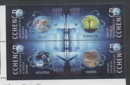 CHILE , 2014, MNH, NUCLEAR ENERGY, 50 YEARS OF NUCLEAR ENERGY COMMISSION, 4v - Stamps