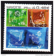 """Mayotte N° 178 XX  """"Mon Ile"""", Dessins D'enfants,  Sans Charnière TB - Gebruikt"""