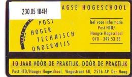 Telefoonkaart  LANDIS&GYR  NEDERLAND * RCZ.230.05  104H * Post HTO/Haagse Hogeschool * TK *  ONGEBRUIKT * MINT - Privé