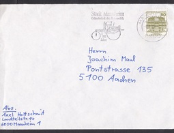 Germany: Cover, 1986, 1 Stamp, Cancel Mannheim Birth City Of Automobile, Oldtimer Car (traces Of Use) - Brieven En Documenten