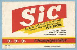 Buvard  SIC   Boisson Gazéifiée Aux Extraits Concentrés De Fruits Frais  PUR SUCRE  - Champigneulles  +++++ - Liquor & Beer
