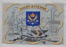 - Tissé Sur Soie - L'industrie Et La Mine. Saint Etienne - Blason De La Ville - - Tapis & Tapisserie