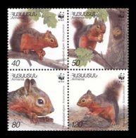 Armenia 2001 Mih. 435/38 Fauna. WWF. Persian Squirrel MNH ** - Armenia