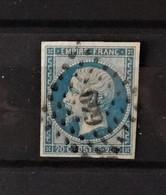 France N°14 Oblitéré 649 - Le Cateau - Nord - 1853-1860 Napoléon III