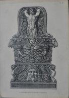 ART ANTIQUE / TREPIED - CANDELABRE - VASE Etc.... /  LOT DE 9 PLANCHES - Prints & Engravings